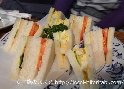 喫茶店さぼうるのサンドイッチ
