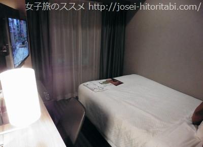 ホテルユニゾ大阪淀屋橋のシングルルーム