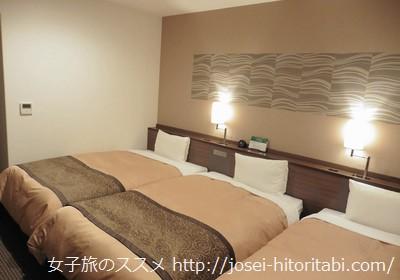 ベッセルイン札幌中島公園のスーペリアツインルーム