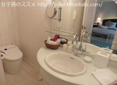 神戸北野ホテルのパウダールーム
