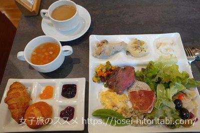 ホテルピエナ神戸の朝食ビュッフェ