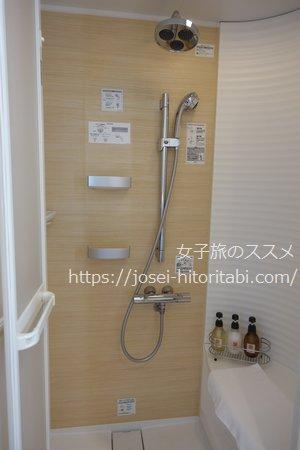 金沢彩の庭ホテルのシャワーブース