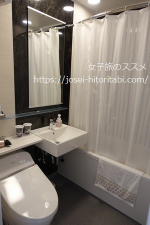 リッチモンドホテルプレミア京都駅前の客室風呂
