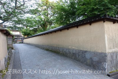 金沢長町の武家屋敷跡