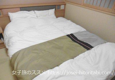 御宿野乃境港のベッド