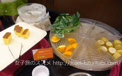 ホテルフォルツァ長崎の朝食バイキング