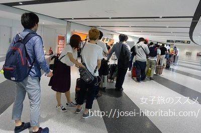 新千歳空港の手荷物検査場