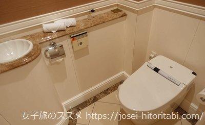 ラスイート神戸ハーバーランドのトイレ