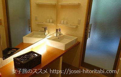 松葉温泉 滝の湯のアメニティ