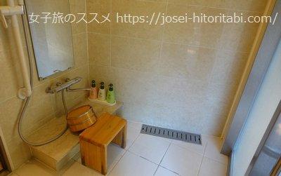 松葉温泉 滝の湯のシャワールーム