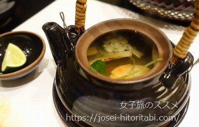 松葉温泉 滝の湯の夕食