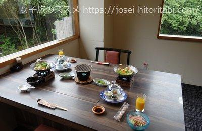 松葉温泉 滝の湯の朝食