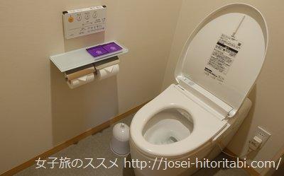 神戸みなと温泉蓮の客室トイレ