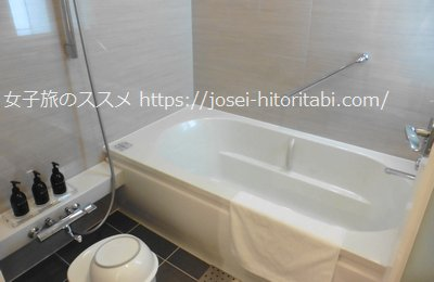 神戸みなと温泉蓮の客室風呂