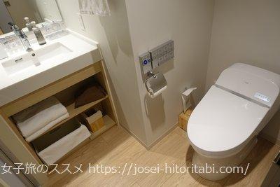 京王プレリアホテル京都烏丸五条のトイレ