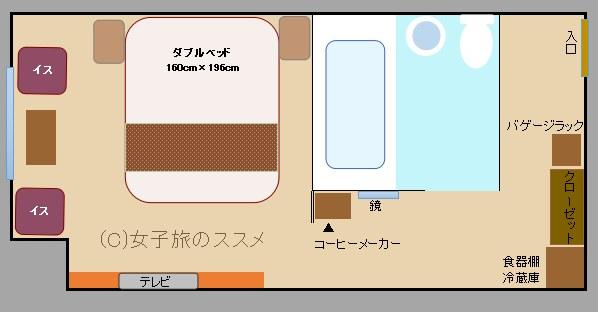 三井ガーデンホテル京橋のスーペリアダブルルーム