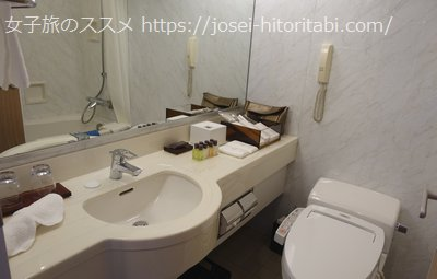 ホテルザセレスティン東京芝のお風呂