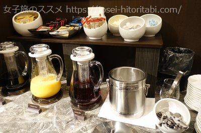 ホテルザセレスティン東京芝の宿泊者専用ラウンジ