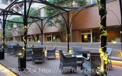 ホテルザセレスティン東京芝の中庭