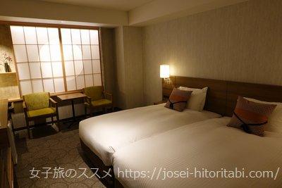 三井ガーデンホテル京都駅前のモデレートツインルーム