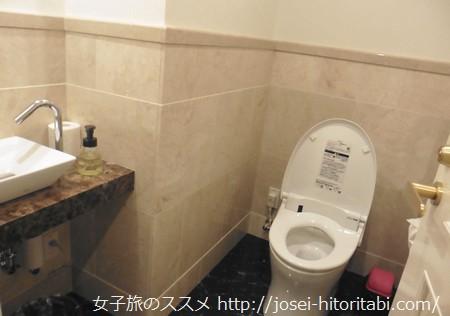 ホテルケーニヒスクローネの客室トイレ