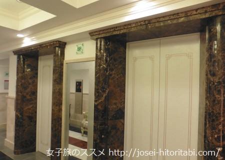 ホテルケーニヒスクローネのエレベーター
