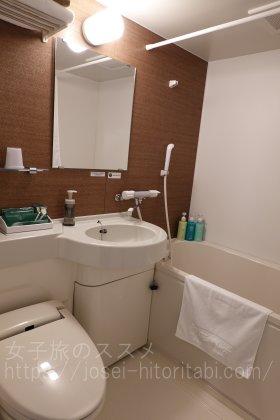 ホテルルートイン米子の客室バスルーム