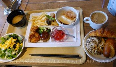 ホテルルートイン米子の無料朝食バイキング